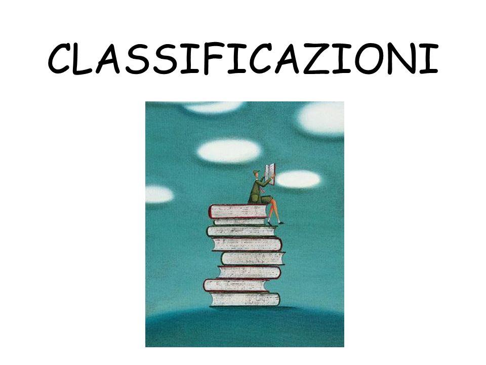 CLASSIFICAZIONI
