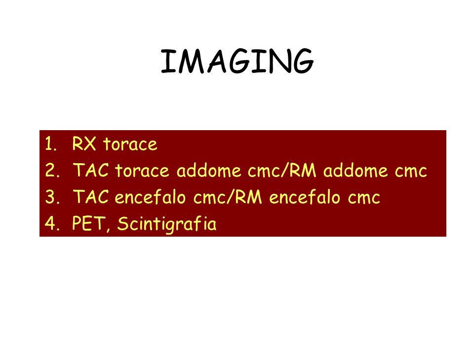 IMAGING RX torace TAC torace addome cmc/RM addome cmc