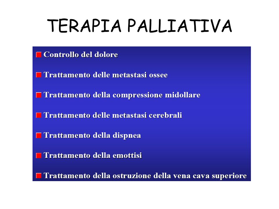 TERAPIA PALLIATIVA