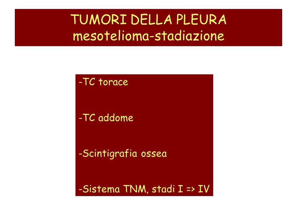 TUMORI DELLA PLEURA mesotelioma-stadiazione