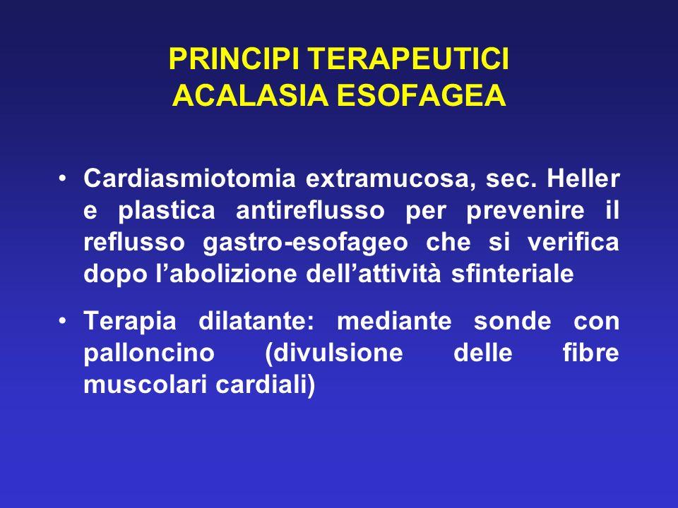 PRINCIPI TERAPEUTICI ACALASIA ESOFAGEA