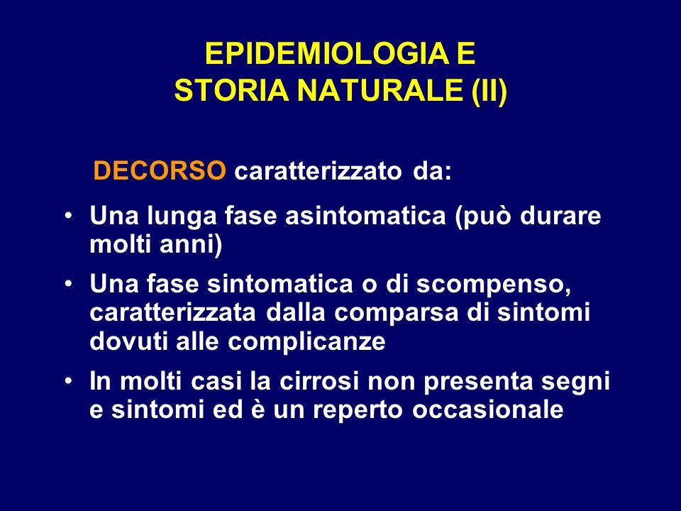 EPIDEMIOLOGIA E STORIA NATURALE (II)