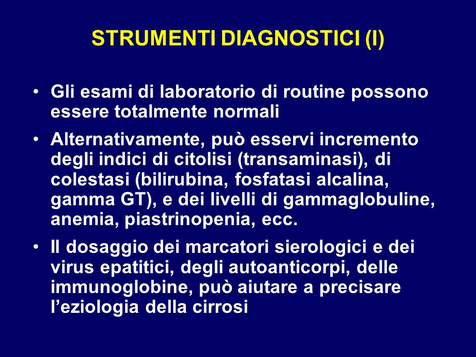 STRUMENTI DIAGNOSTICI (I)