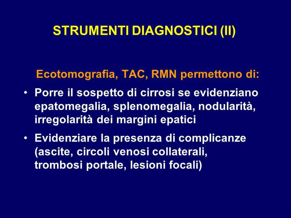 STRUMENTI DIAGNOSTICI (II)