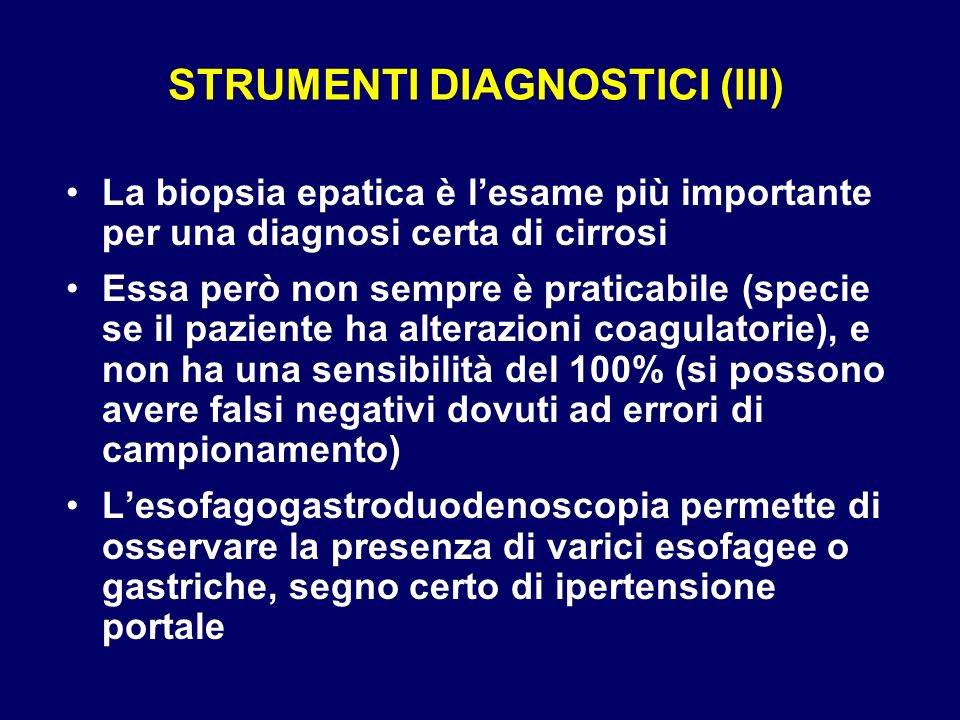 STRUMENTI DIAGNOSTICI (III)