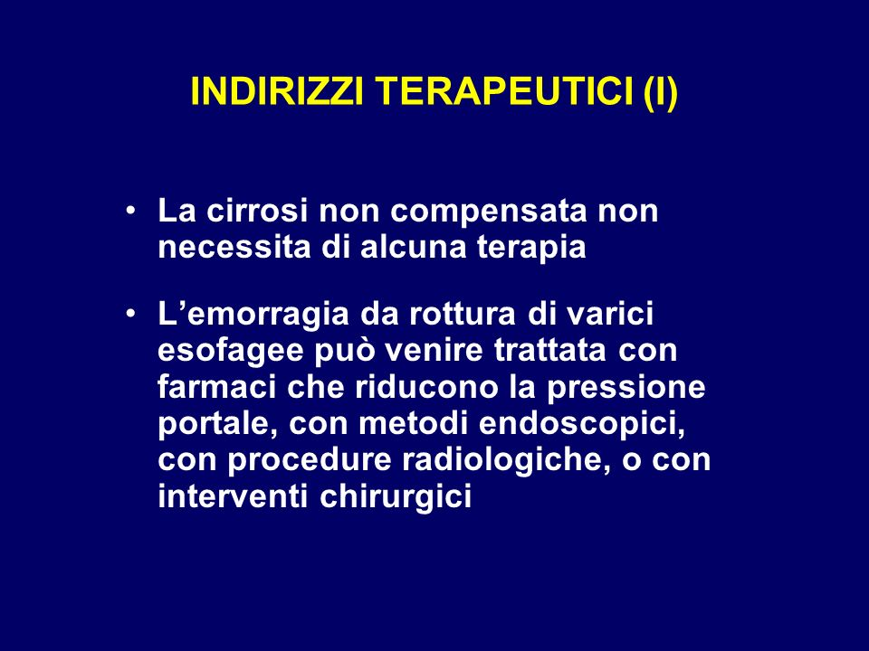 INDIRIZZI TERAPEUTICI (I)