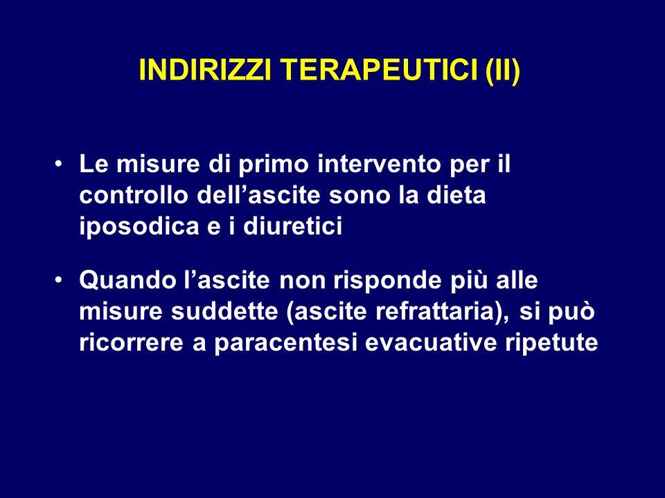 INDIRIZZI TERAPEUTICI (II)