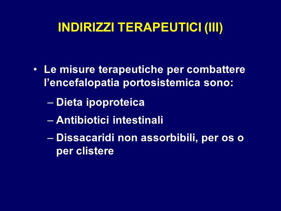 INDIRIZZI TERAPEUTICI (III)