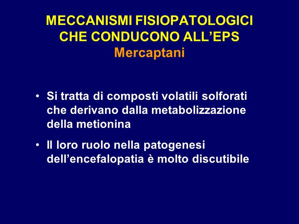 MECCANISMI FISIOPATOLOGICI CHE CONDUCONO ALL'EPS Mercaptani