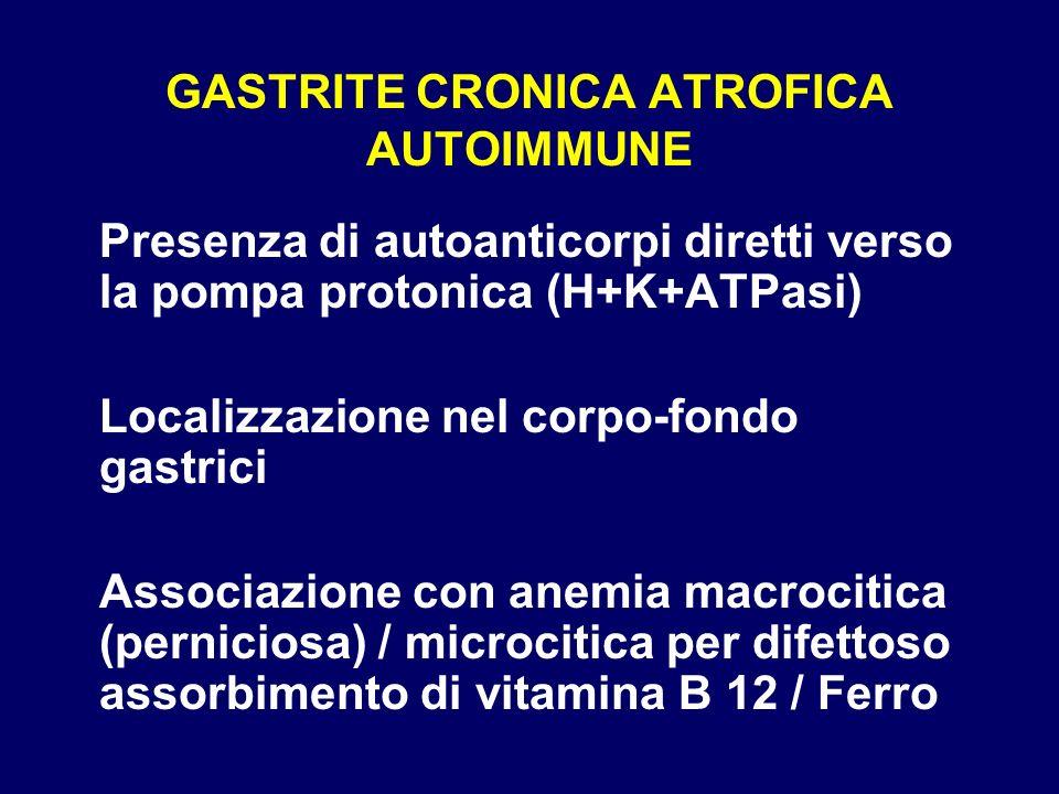 GASTRITE CRONICA ATROFICA AUTOIMMUNE