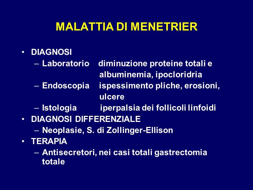 MALATTIA DI MENETRIER DIAGNOSI