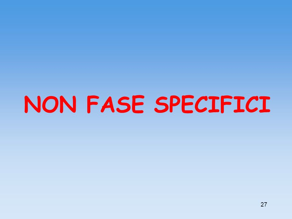 NON FASE SPECIFICI 27 27