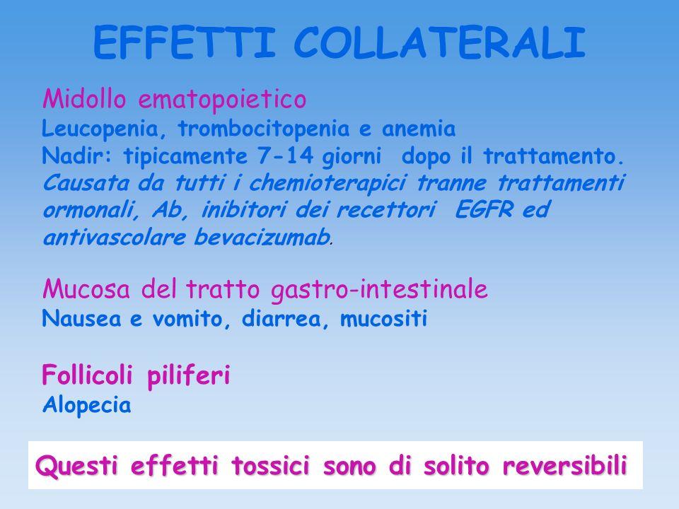 EFFETTI COLLATERALI Midollo ematopoietico