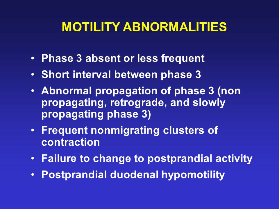 MOTILITY ABNORMALITIES