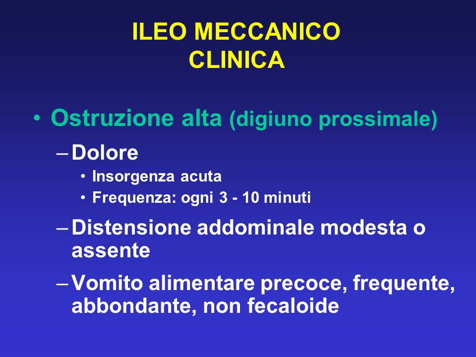 ILEO MECCANICO CLINICA