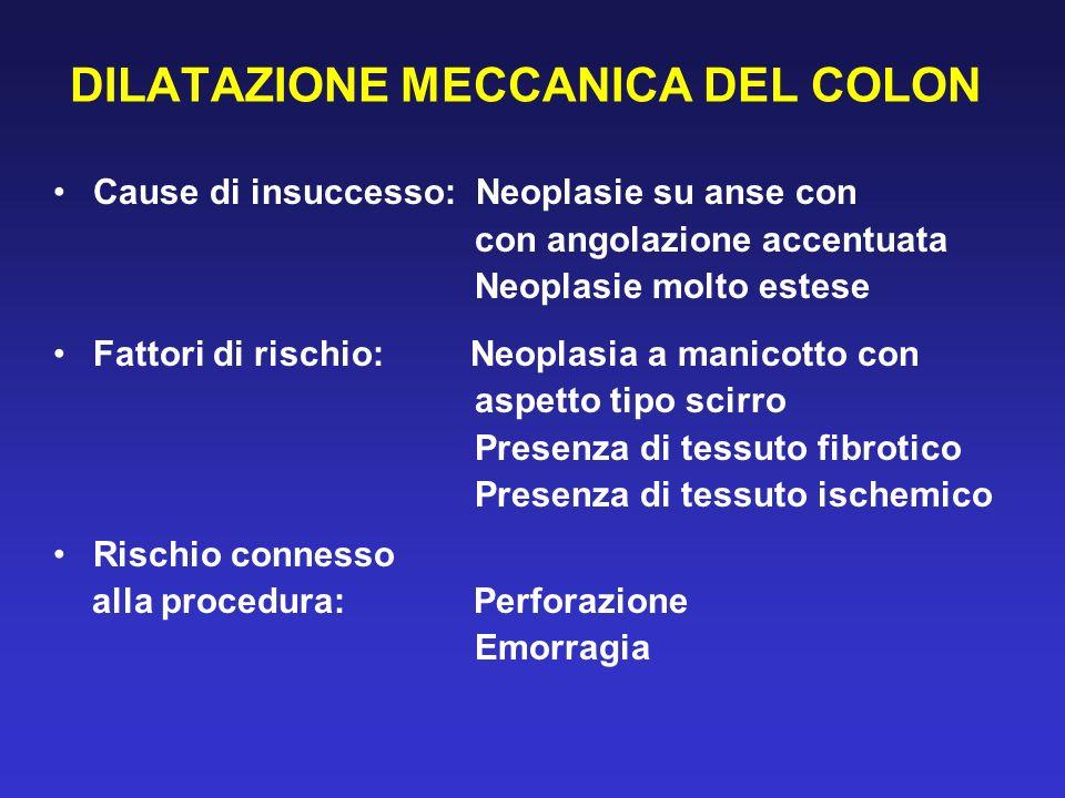 DILATAZIONE MECCANICA DEL COLON
