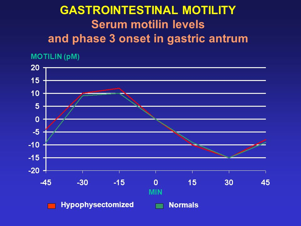 GASTROINTESTINAL MOTILITY Serum motilin levels and phase 3 onset in gastric antrum