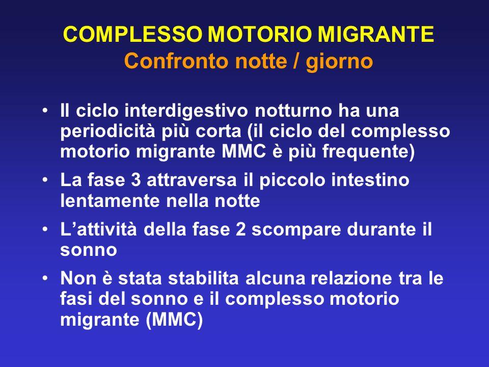 COMPLESSO MOTORIO MIGRANTE Confronto notte / giorno