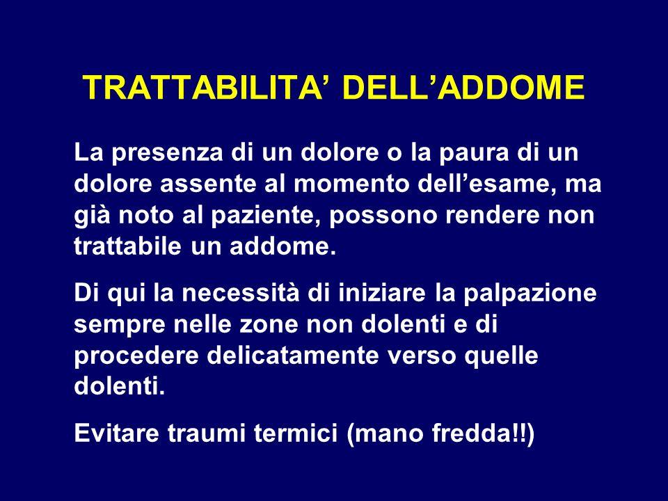 TRATTABILITA' DELL'ADDOME