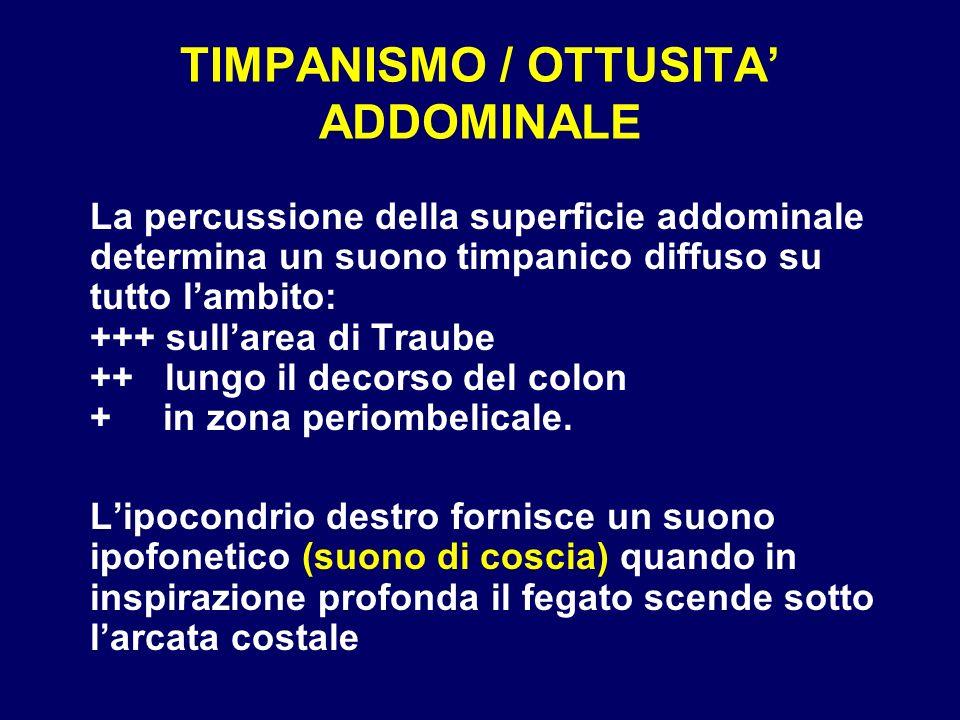 TIMPANISMO / OTTUSITA' ADDOMINALE