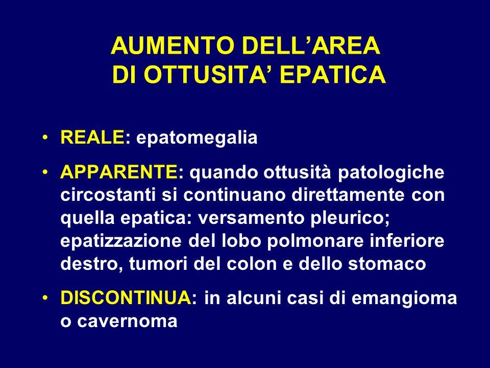 AUMENTO DELL'AREA DI OTTUSITA' EPATICA