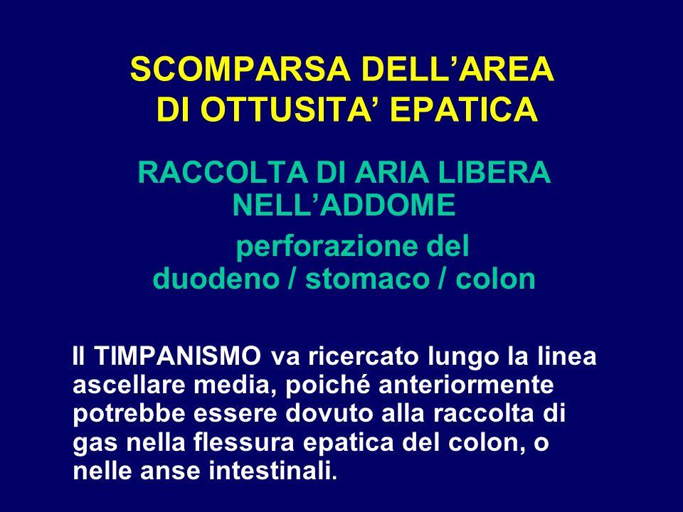 SCOMPARSA DELL'AREA DI OTTUSITA' EPATICA