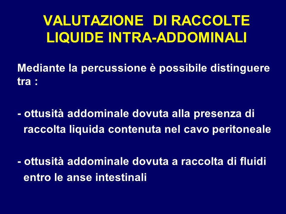 VALUTAZIONE DI RACCOLTE LIQUIDE INTRA-ADDOMINALI