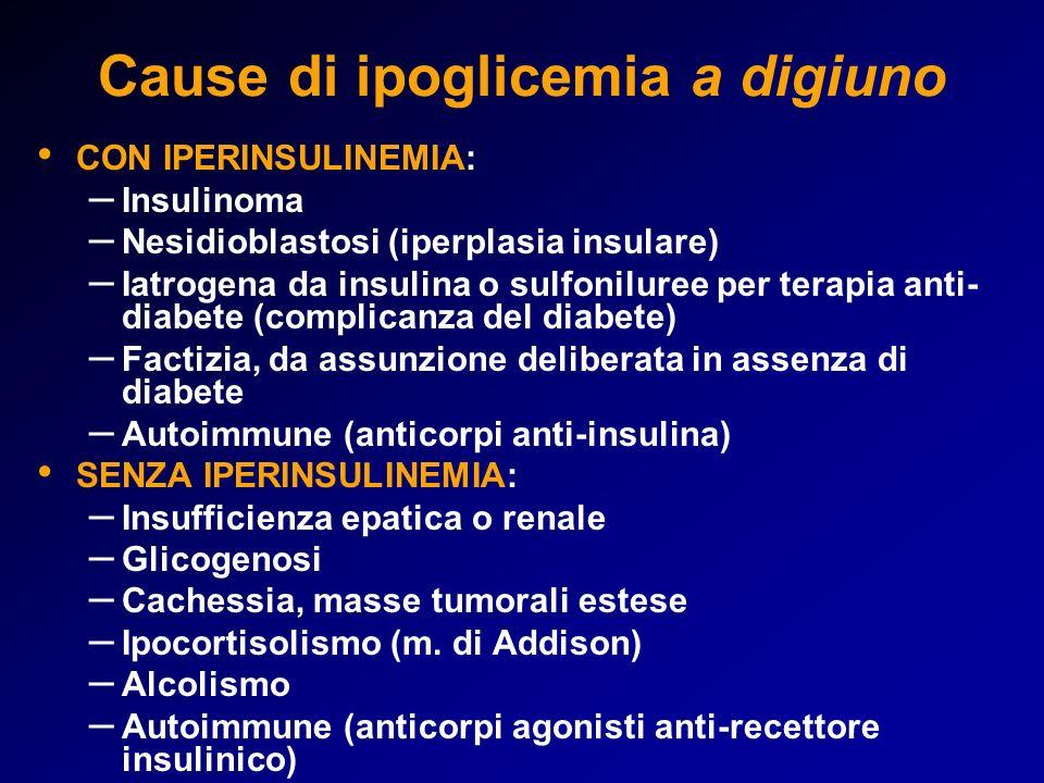 Cause di ipoglicemia a digiuno
