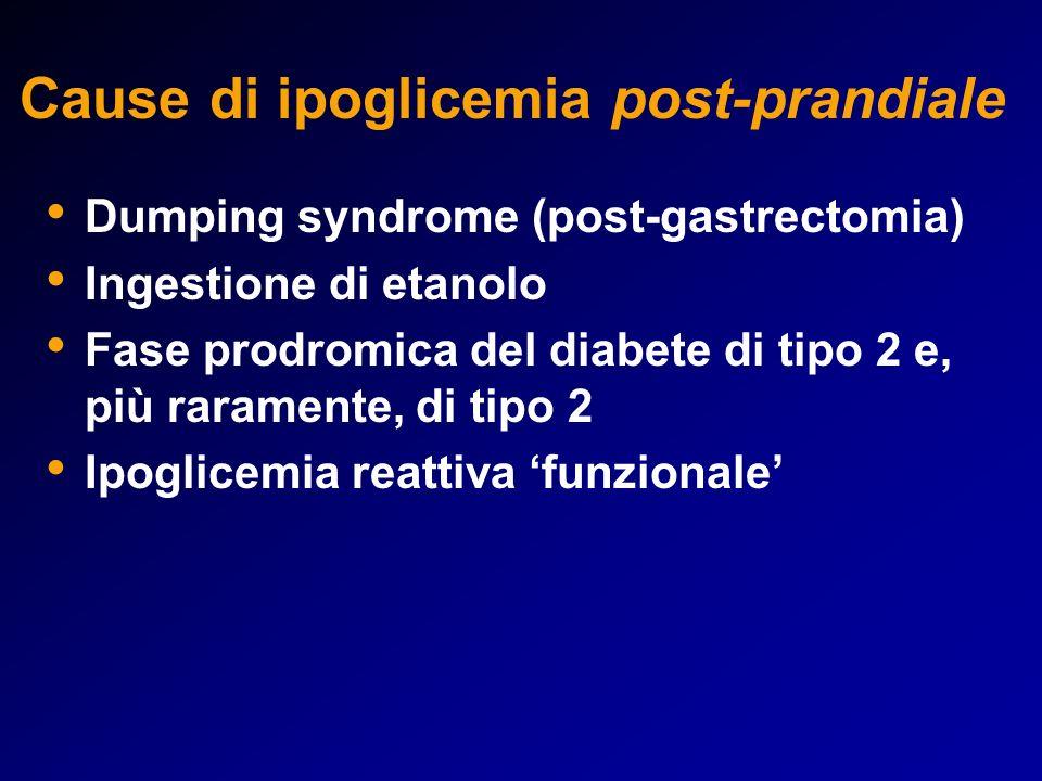 Cause di ipoglicemia post-prandiale