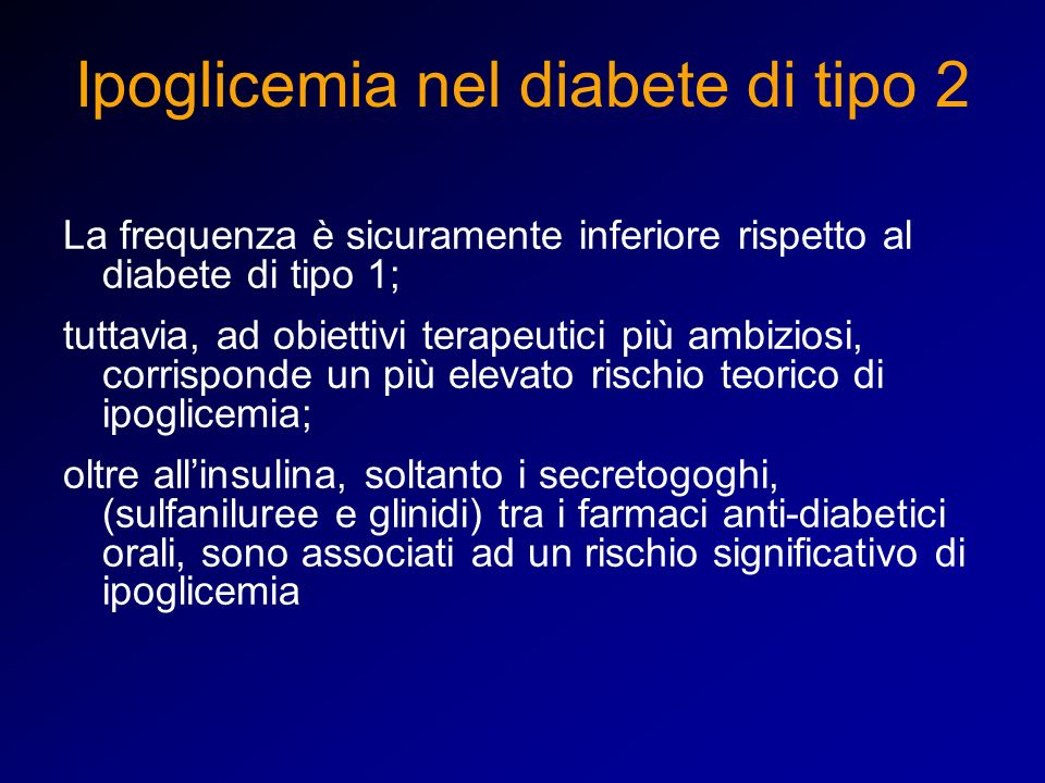 Ipoglicemia nel diabete di tipo 2