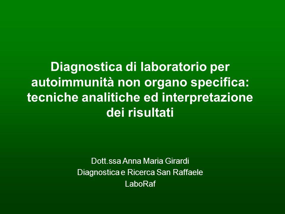 Dott.ssa Anna Maria Girardi Diagnostica e Ricerca San Raffaele LaboRaf