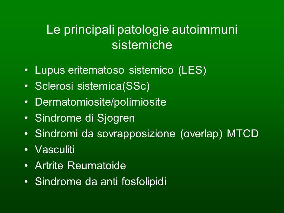 Le principali patologie autoimmuni sistemiche