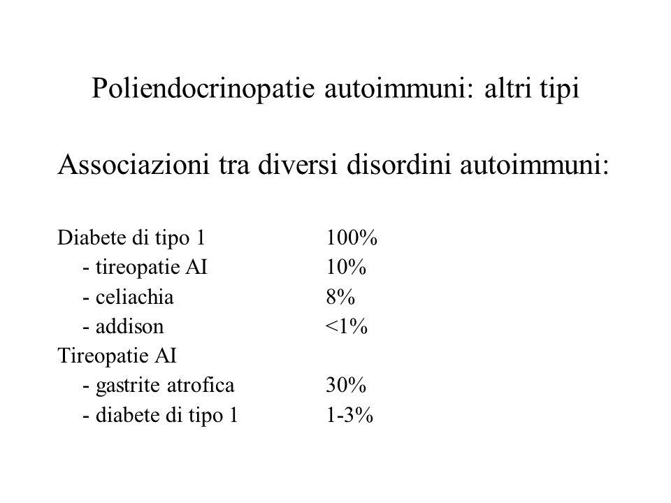 Poliendocrinopatie autoimmuni: altri tipi