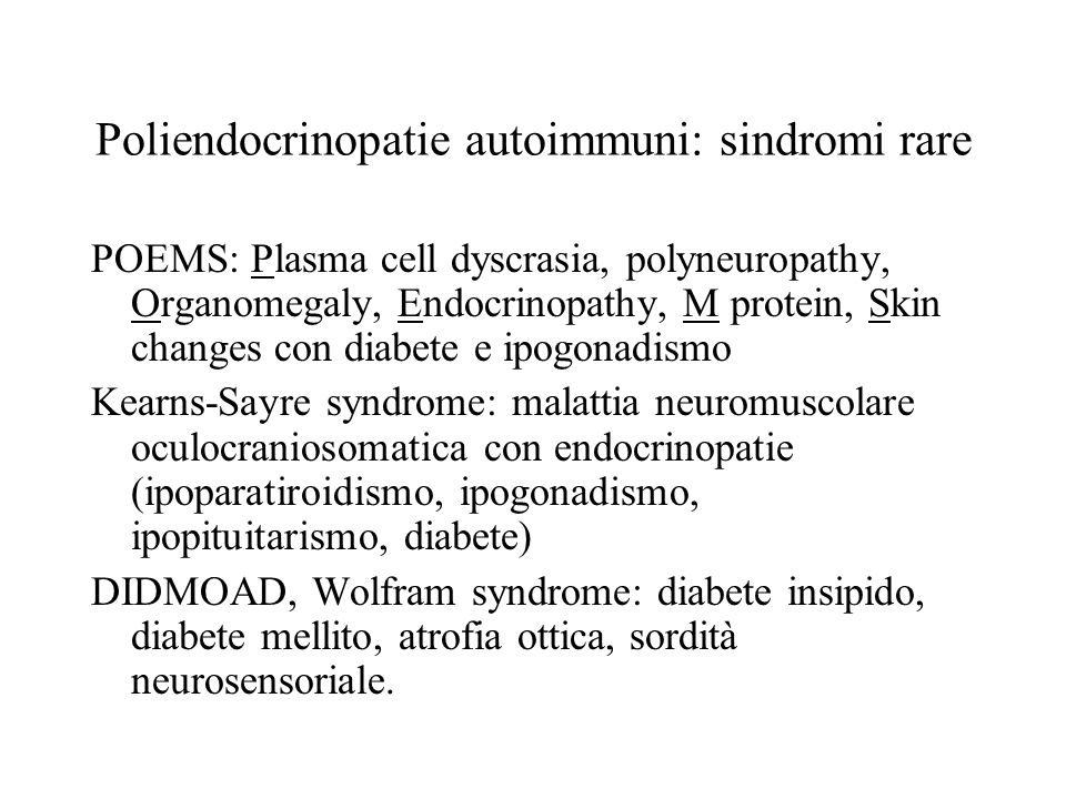 Poliendocrinopatie autoimmuni: sindromi rare