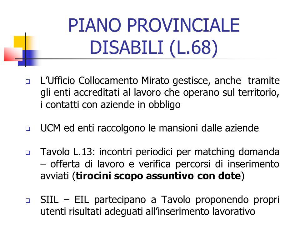 PIANO PROVINCIALE DISABILI (L.68)
