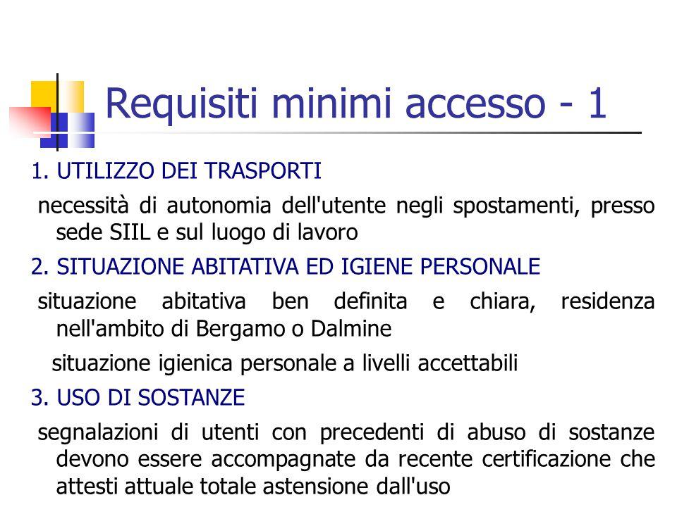 Requisiti minimi accesso - 1