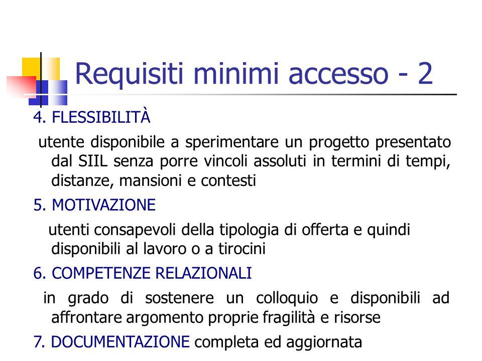 Requisiti minimi accesso - 2