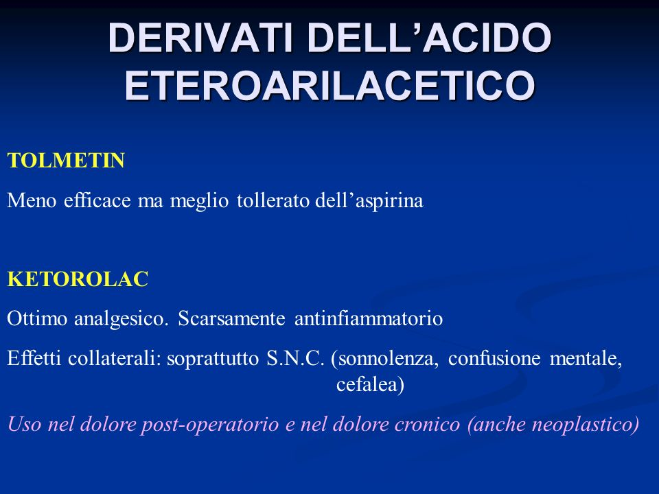 DERIVATI DELL'ACIDO ETEROARILACETICO