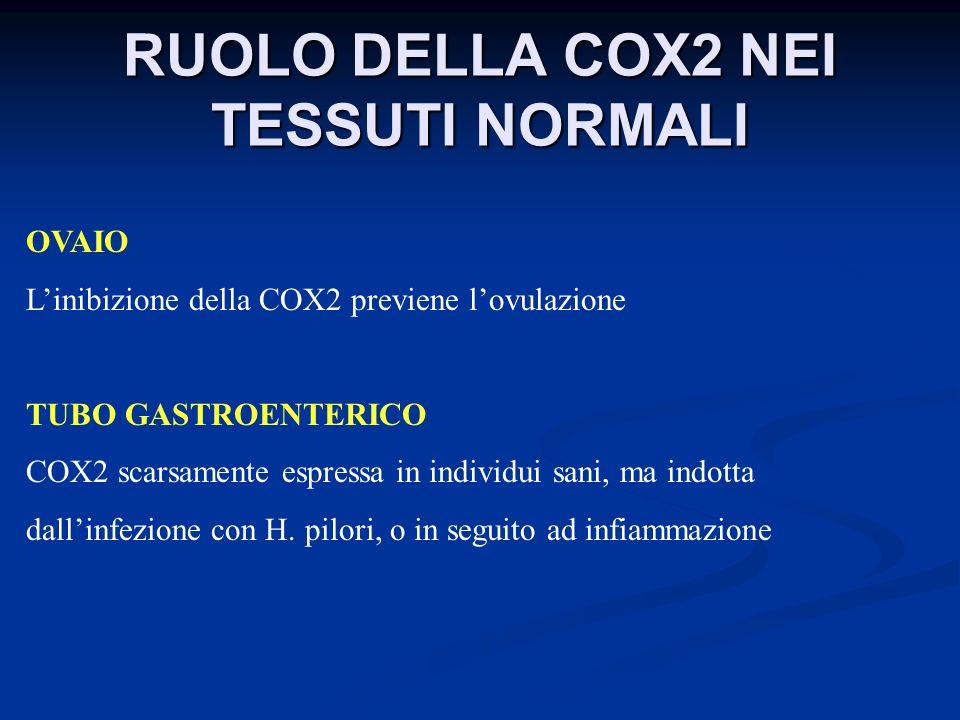 RUOLO DELLA COX2 NEI TESSUTI NORMALI