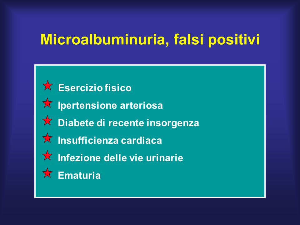 Microalbuminuria, falsi positivi