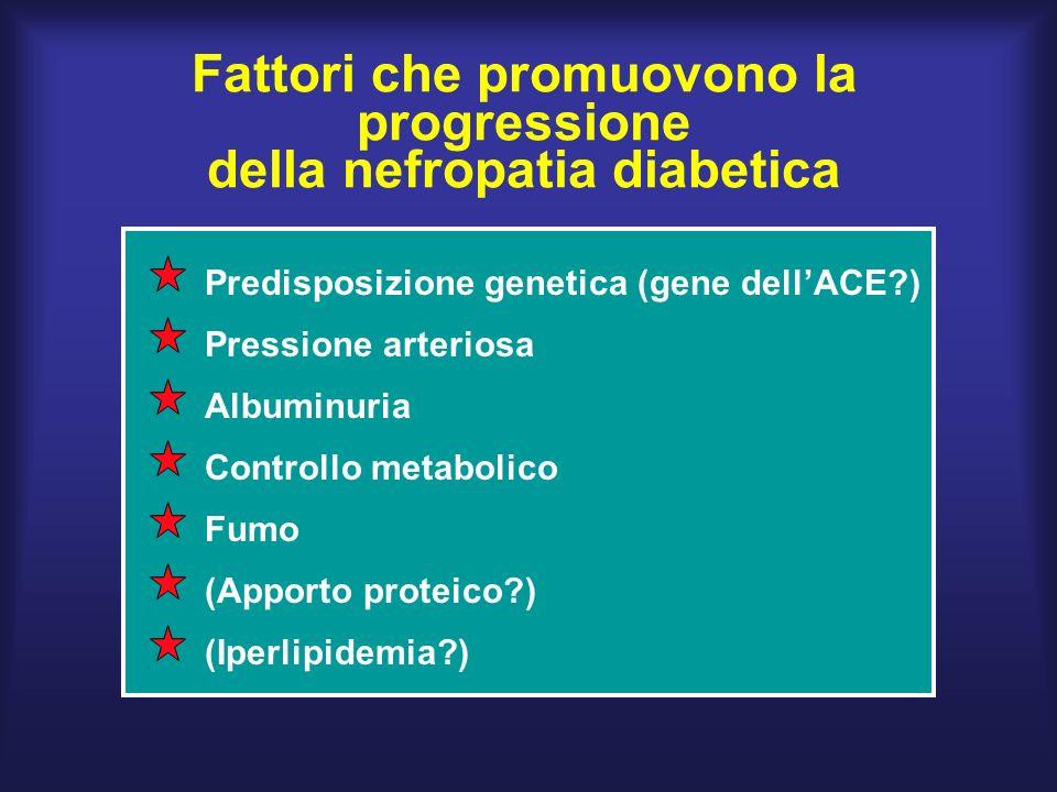 Fattori che promuovono la progressione della nefropatia diabetica