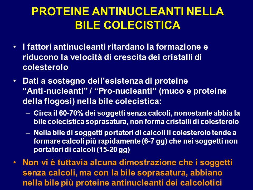 PROTEINE ANTINUCLEANTI NELLA BILE COLECISTICA