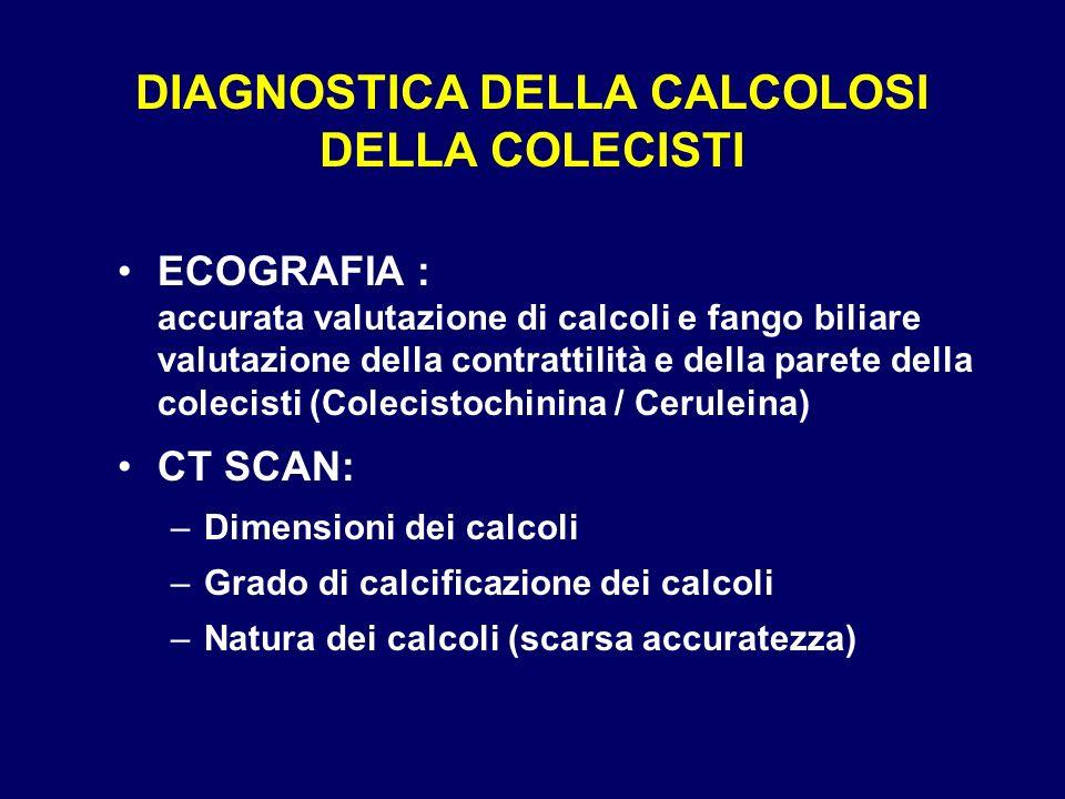 DIAGNOSTICA DELLA CALCOLOSI DELLA COLECISTI