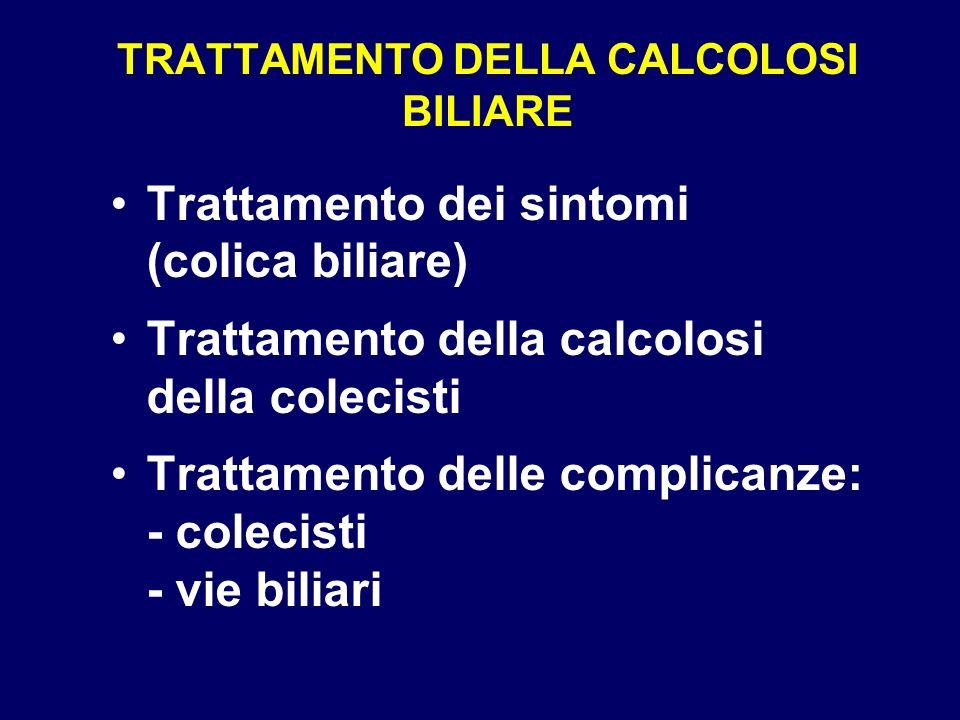 TRATTAMENTO DELLA CALCOLOSI BILIARE