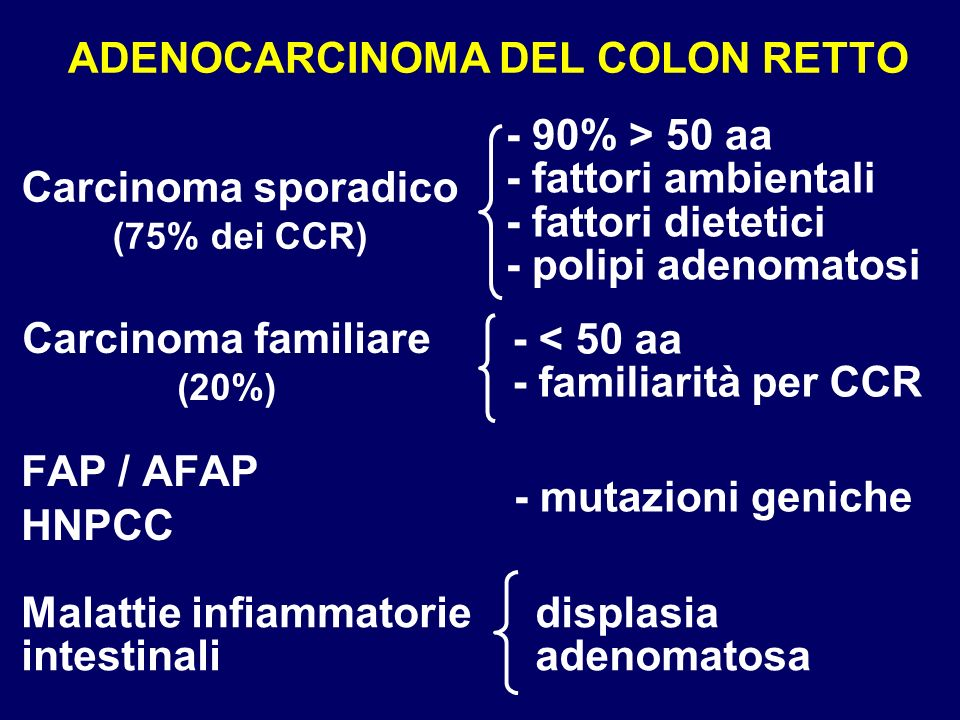 ADENOCARCINOMA DEL COLON RETTO