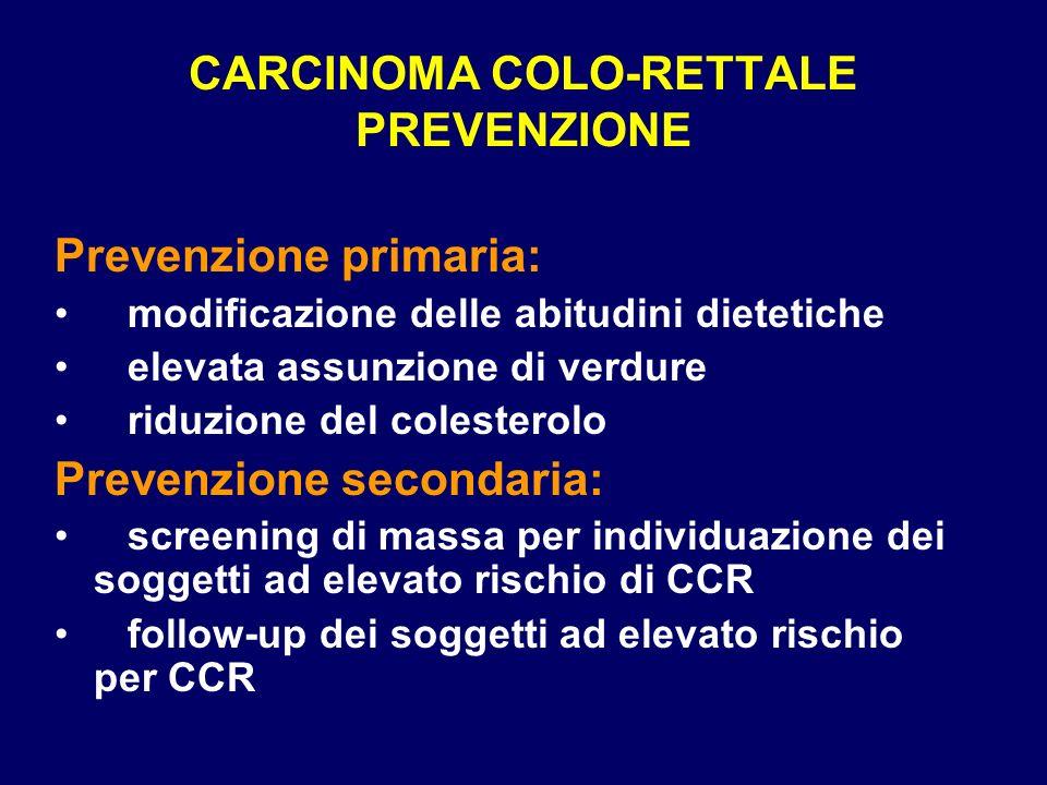 CARCINOMA COLO-RETTALE PREVENZIONE