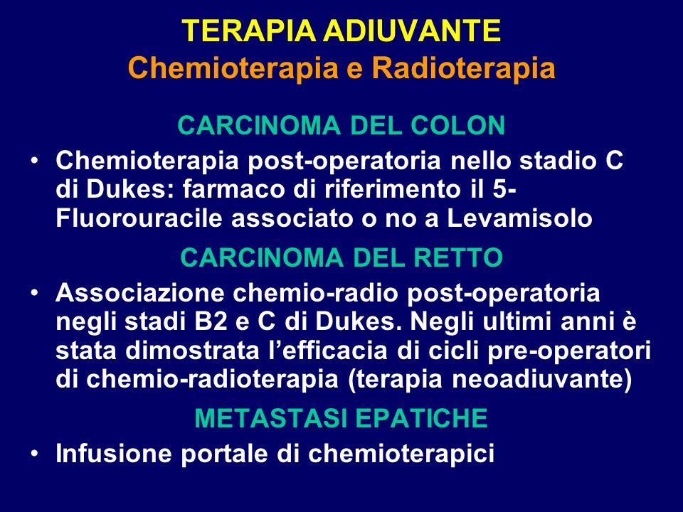 TERAPIA ADIUVANTE Chemioterapia e Radioterapia