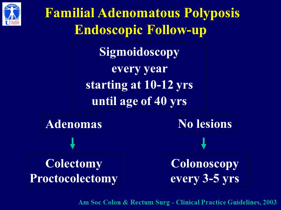 Familial Adenomatous Polyposis Endoscopic Follow-up