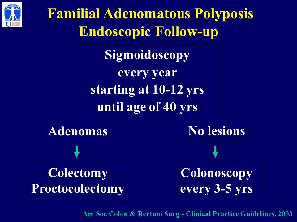 Familial Adenomatous Polyposis Endoscopic Follow-up