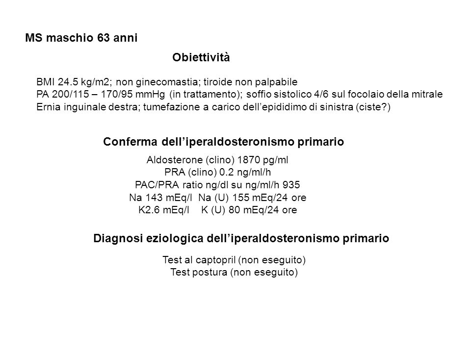 Diagnosi eziologica dell'iperaldosteronismo primario